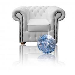 Fotel Chesterfield Classic w skórze Z Kryształkami