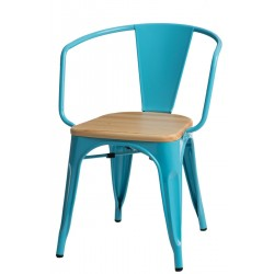 Krzesło Paris Arms Wood Inspirowane Tolix