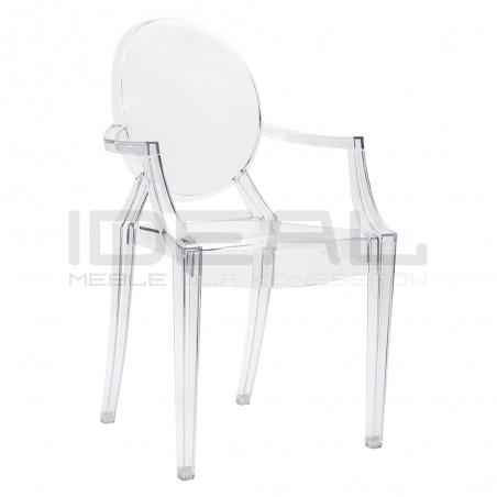 Krzesło Inspirowane Projektem Louis Ghost