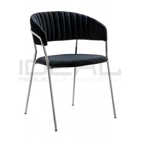 Krzesło Glamour Kubełkowe Margo chrom