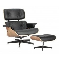Fotel Bauhaus Vip z podnóżkiem- sklejka walnut