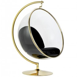 Fotel glamour bubble Stand Gold