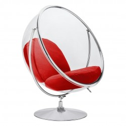 Fotel glamour bubble Stand 2 chrom - poduszka wełna