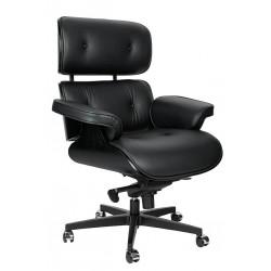 Fotel biurowy Bauhaus Lounge Gubernator - sklejka czarny jesion