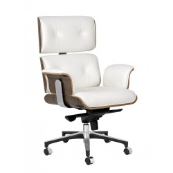 Fotel biurowy Bauhaus Lounge Business - sklejka orzech