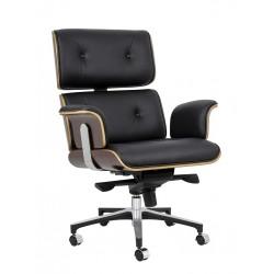 Fotel biurowy Bauhaus Lounge Business - sklejka róża