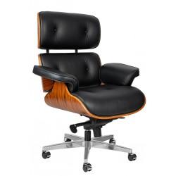 Fotel biurowy Bauhaus Lounge Gubernator - sklejka różana