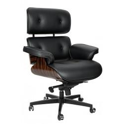 Fotel biurowy Bauhaus Lounge Gubernator - sklejka heban
