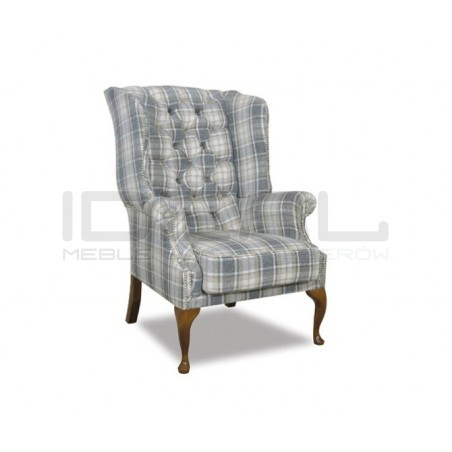 Fotel Lord Ludwik tkanina plusz