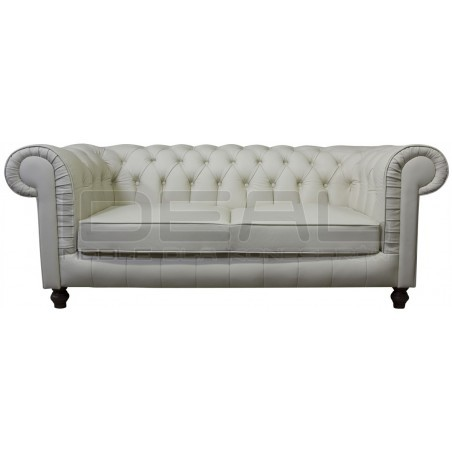 Sofa Chesterfield Lady Rem Skóra 3 os.