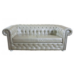 Sofa Chesterfield March Rem w skórze z funkcją spania