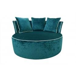 Fotel okrągły - pufa z oparciem