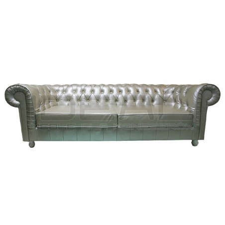 Sofa Chesterfield Canon Skóra 4 os.