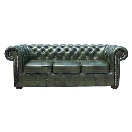 Sofa Chesterfield Classic skóra 3 os.