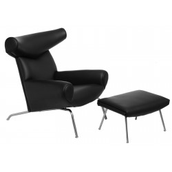 Fotel Bauhaus z podnóżkiem Wół