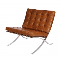 Fotel BA Inspirowany Projektem Barcelona skóra vintage