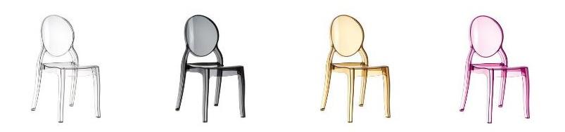 IdealMeble - Krzesło przezroczyste Elizabeth