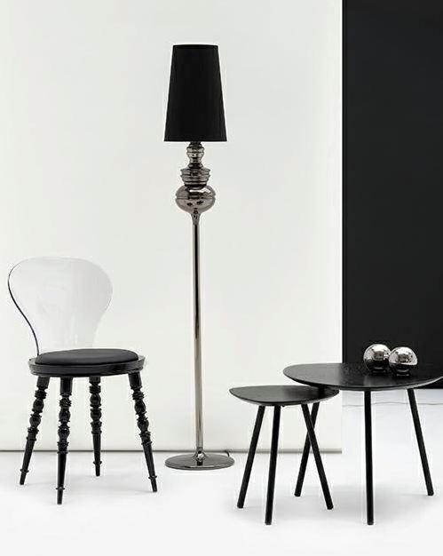 Krzesło przezroczyste aranżacja (Slip)