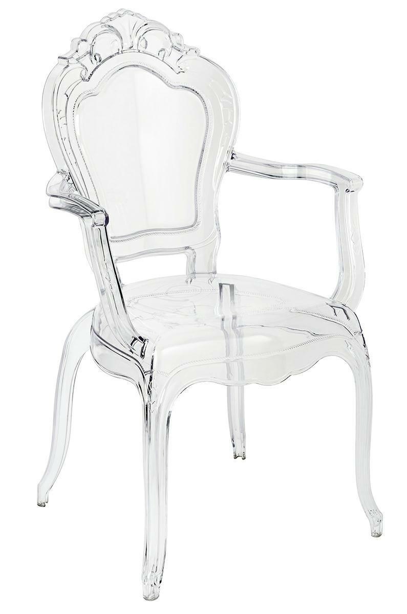 Krzesło glamour przezroczyste King Arm