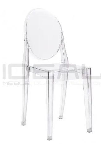 Krzesła glamour przezroczyste victoria