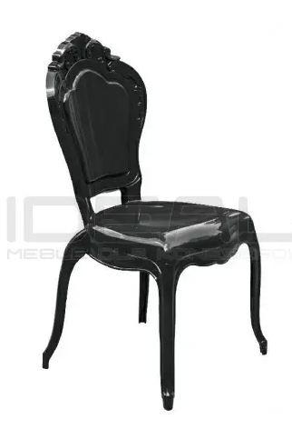 Krzesła glamour czarne king