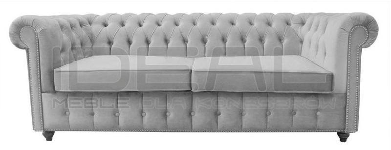 Sofa chesterfield z funkcją spania codziennego 3 osobowa