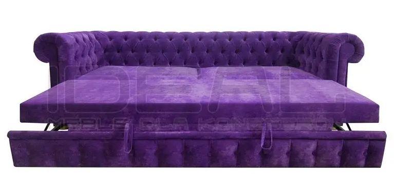 Sofa Rozkładana do przodu z wózkową funkcją spania